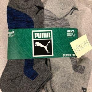 Puma Underwear & Socks - 6 pairs PUMA Men's low Cut cushion socks